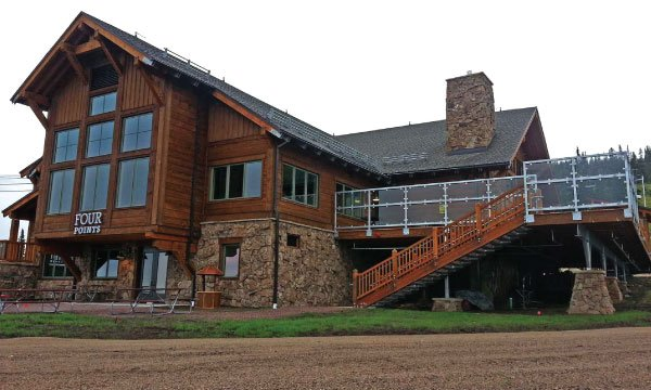 Four points ski lodge in the summer.